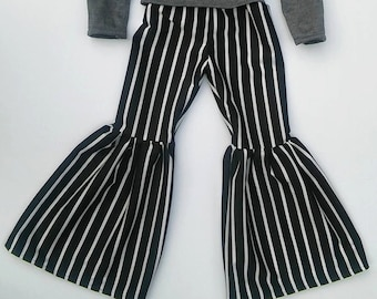 striped bell bottoms with bow