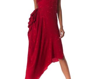 Vintage 1970s Vicky Tiel Slinky Strapless Dress Size: XS