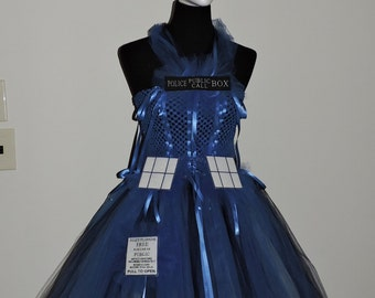 MTO Adult police box cosplay costume Doctor who Tardis inspired woman's gift