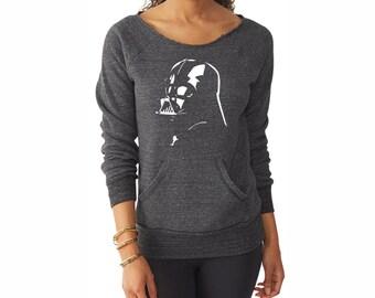 Star Wars Shirt. Womens Sweatshirt. Darth Vader Shirt. Star Wars Sweatshirt.