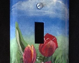 Tulips Light Switch Plate