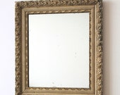 Antique Gesso Mirror - Gorgeous Antique Gesso Framed Foxed Mirror - Boho Chic - Shabby Chic