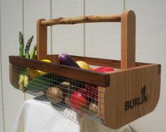 BURLIN Garden Basket-Garden Harvesting Basket (BURLIN)- Vegetable Basket, Hod,Picnic Basket, Storage Basket, Medium Size