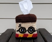Harry Potter Themed Crochet Tissue Box Cozy Cover, Gryffndor - FREE SHIPPING!