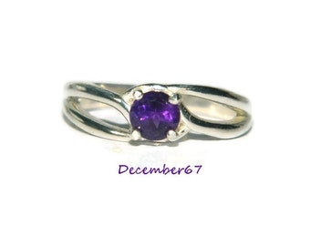 Natural Amethyst Ring, Sterling Silver Ring With Stone, February Birthstone Ring, Bridesmaid Gift