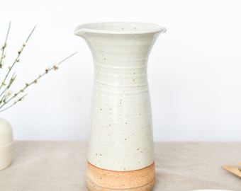 Carafe: Hand thrown, handmade by Hanselmann Pottery