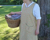 Beige and Rose Calico Bread Baking Apron -Ready to Ship