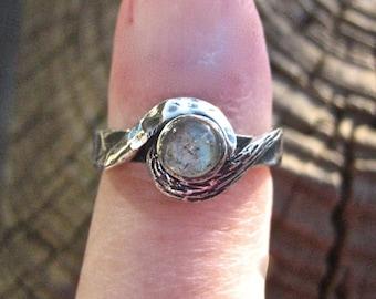 SALE Cool Vintage 925 Sterling Silver Labradorite Ring