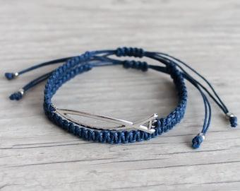 Fish friendship bracelet set Mens bracelet Unisex macrame bracelet set Jesus fish Woven bracelets Stackable bracelets Beach jewelry