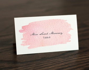 Watercolor Place Cards, Printable Place Cards, Instant Downloadable Wedding Place Cards, Escort Cards, Blush Place Cards