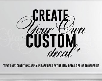 Personalized Decal Etsy - Custom made vinyl decals