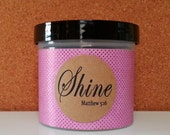 Christian gift, Verse Jar, Shine Matthew 5:16, Mother's Day, Graduation, Get Well, Congratulations Gift, Pink Sparkles