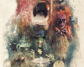 Banjo Kazooie Dark Surreal Inspired Original Digital Art Design Poster - signed premium quality giclée fine art print