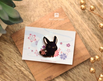 Black Rabbit Pin (Dark Bunny)