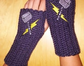 Kids THOR MARVEL Arm warmers / Fingerless gloves / Wrist warmers handmade