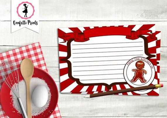 Cookie Exchange Recipe Card | Christmas Cookie Exchange | Cookie Exchange Party | Cookie Swap | Christmas Cookie Party | Printable