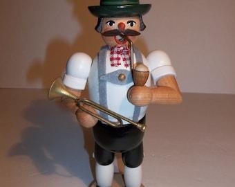 German wood incense burner man,home and living,smoker,folk art figure,incense burner,wooden man,