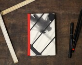 """Hand Bound Hardcover Journal """"Looking Down"""", Pocket Size Notebook"""