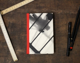 "Hand Bound Hardcover Journal ""Looking Down"", Pocket Size Notebook"