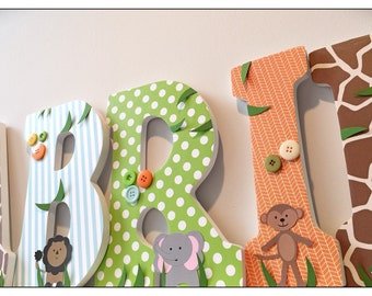 Wood Nursery Letters. Safari Letters. Animals. Boy. Baby Boys Room. Boys Nursery. Animal Letters. Safari Nursery Decor. Safari Nursery.