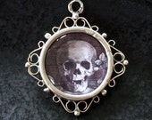 SOLD / SOLD / SOLD - Edwardian Beveled Crystal Pendant / Memento Mori / Double Sided Sterling Silver