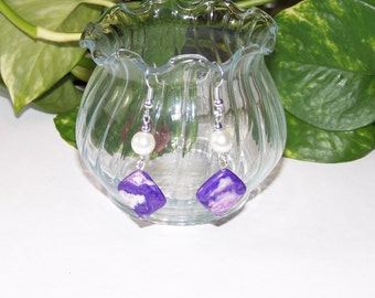 Purple Gemstone Earrings