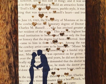 1 Book Lovers Luminary, Book Wedding, Book Decor, Love, Book Gift, Library Wedding, Library Theme