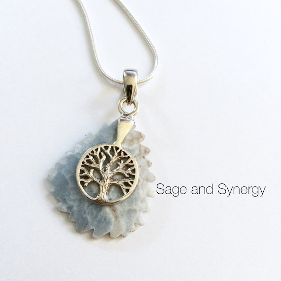 Sterling Silver Larimar Leaf Necklace for Women, Jewelry Gift for Her, Something Blue for Bride, Everyday Simple Necklace, Tree of Life