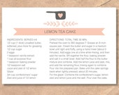 Printable & Editable Recipe Cards: Instant Download Heart Measuring Cup