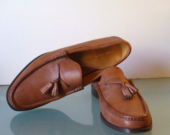 Vintage Ralph Lauren Tassle Loafers Made in Italy Size 13 D US