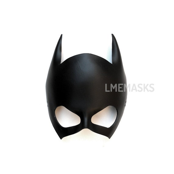 Batgirl Leather Mask Batwoman Catwoman Halloween Black