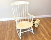 Rocking Chair - Shabby Chic Chair - Nursery Room Furniture - Vintage Rocker Chair - Distressed Painted