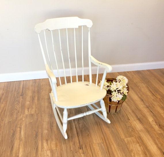 Rocking Chair - Shabby Chic Chair - Nursery Room Furniture - Vintage ...