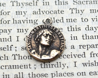St. Sebastian Medal - Bronze Medal - Patron of Athletes - Vintage Reproduction - Cast in the USA (CD-339)