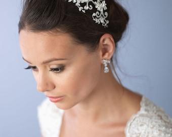 Crystal Bridal Headband, Bridal Hair Accessory, Wedding Headband, Rhinestone Bridal Headpiece, Vintage Headband, Bride Headband ~TI-3184