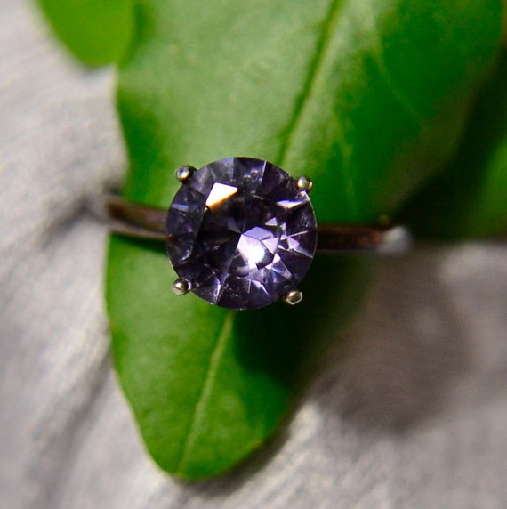 Amethyst Ring in Sterling Silver, 4 Prong Setting Amethyst Ring in Solid Silver, February Birthstone, Bridesmaids Gifts