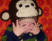 PDF Monkey Hat - ALL sizes - Crochet Pattern