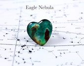 Nebula Heart Shaped Ring