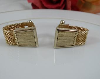 Vintage Swank Gold Tone Men's Cufflinks