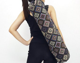 Handmade Yoga Mat Bag Yoga Bag Sports Bags Tote Yoga Sling bag Pilates Bag Pilates Mat Bag Woven Yoga Bag Women bag Woven Cotton bag (WF76)