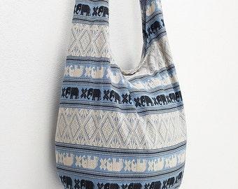 Women bag Handbags Cotton bag Elephant bag Hippie Hobo Boho bag Shoulder bag Sling bag Messenger bag Tote Crossbody bag Purse Pale Blue