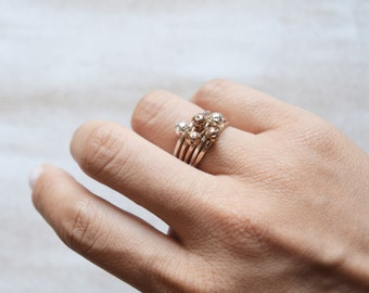 Dainty Stacking Ring Silver Stone Ring Gold Stone Ring Pebble Ring Dainty Stone Ring