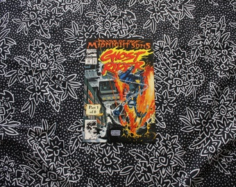 Ghost Rider #28 Vintage Marvel Modern Age Comic Book. Rise Of The Midnight Sons 1 Of 6. Collectible 90s Ghost Rider Marvel Comic Book