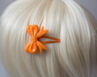 Orange Lolita Bow Hair Clips