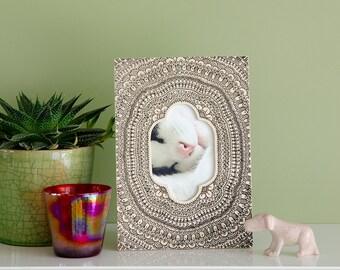 "Picture frame ""Mandala"" - screen printed wooden frame"
