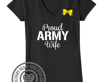 Custom Proud Army tShirt, proud army wife, proud army girlfriend, proud army sister, proud army mom, army support clothing, army gift