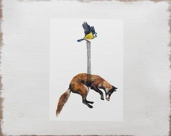 Fox Print -- Woodland Animal Print // Watercolour Illustration Limited Edition Art