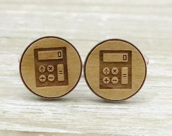 Calculator Copper Wodden Cuff Links- Unique Wedding Gift - Groomsmen gift - Groom - Unique gift Idea - Manly