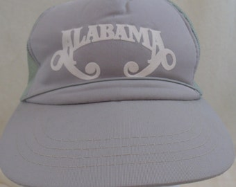 Vintage 80s 1980s The Band Alabama Gray Mesh Truckers Hat.