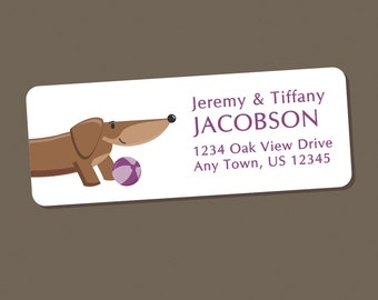 Dachshund Address Labels, Return Address Labels, Address Stickers, Dog Labels, Personalized Address Labels, Wiener Dog, Doxie, Pet